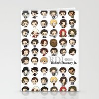 robert downey jr Stationery Cards featuring Robert Downey Jr. by Lady Cibia