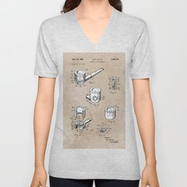 patent art Yow-Jiun Hu Smoking pipe apparatus 1968 Unisex V-Neck