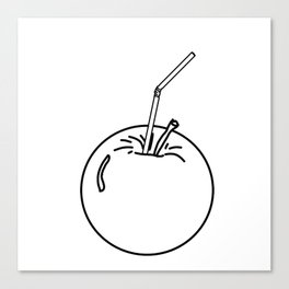 an Apple and a straw ( https://society6.com/totalflora/collection ) Canvas Print