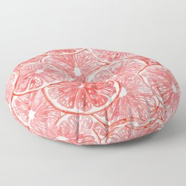 Watercolor grapefruit slices pattern Floor Pillow