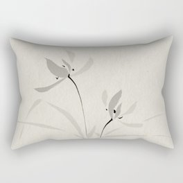 Japanese orchid Asian style brush painting Rectangular Pillow
