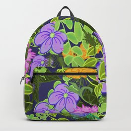 Floral Garden Wall Backpack