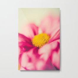 Flower Power (pink & yellow) Metal Print