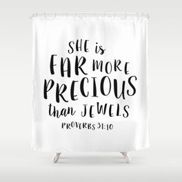Bible Verse Shower Curtains | Society6