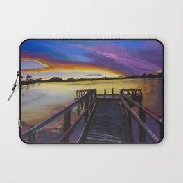 Shelley Bridge Sunset Laptop Sleeve