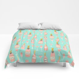 Rose champagne wine food fight apparel and gifts Comforters