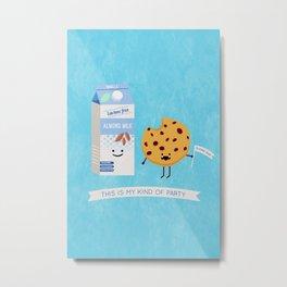 Milk and Cookie Metal Print