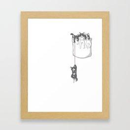 Pocket Cat/ Pocket Kitten Framed Art Print