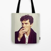 ben giles Tote Bags featuring Ben by Grace Teaney Art