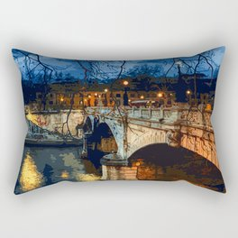 Rome, romantic nights Rectangular Pillow
