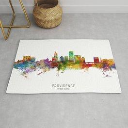 Providence Rhode Island Skyline Rug