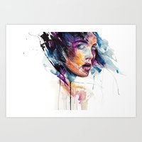 glass Art Prints featuring sheets of colored glass by agnes-cecile