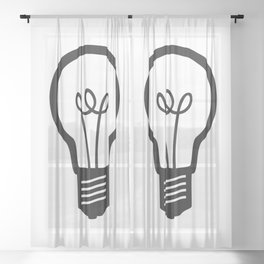 Simple Light Bulb Sheer Curtain