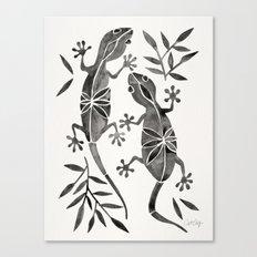 Geckos – Black Palette Canvas Print