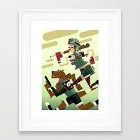 tank girl Framed Art Prints featuring Tank Girl by Gabriela Zurda