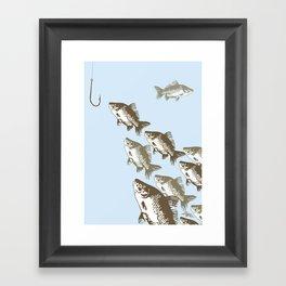 The Smart Fish Framed Art Print