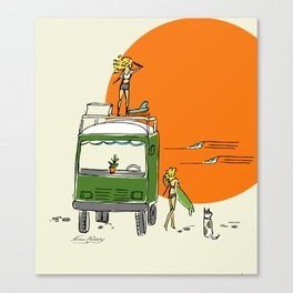 Green Native Adventure Canvas Print