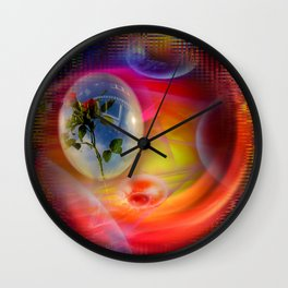 Flower - Greetings Wall Clock