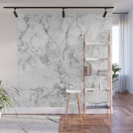 Gray & white faux marble no21 Wall Mural