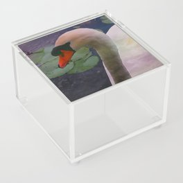 Mute Swan - Water Color Acrylic Box