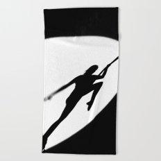 aerial acrobatics Beach Towel