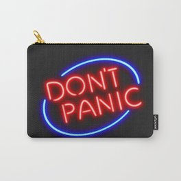 """Hitchhiker's Guide - """"Don't Panic"""" Neon Sign Carry-All Pouch"""