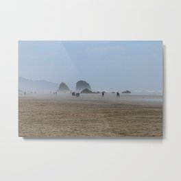 Misty Morning At Cannon Beach Metal Print