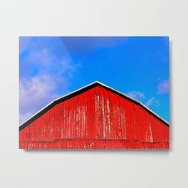 My Big Red Barn Metal Print