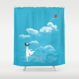 Let Go Shower Curtain