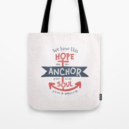 """""""Anchor for the Soul"""" Hand-lettered Bible Verse Tote Bag"""