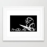 starcraft Framed Art Prints featuring Penguinoid by adru