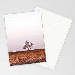 field, tree, mow, barn Stationery Cards
