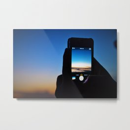digital sunset Metal Print