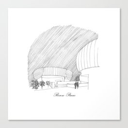Renzo Piano Canvas Print