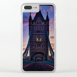 London Tower Bridge at Sunset Clear iPhone Case