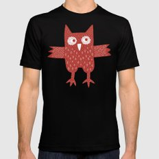Red Owl Black Mens Fitted Tee MEDIUM