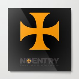 No-Entry Print #1 Metal Print