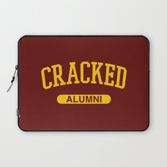 Cracked Alumni Laptop Sleeve