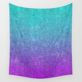 Tropical Twilight Glitter Gradient Wall Tapestry
