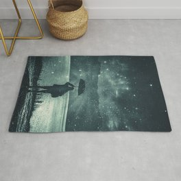 Sideral Rain     surreal, surrealism, digitalart, graphicdesign Rug