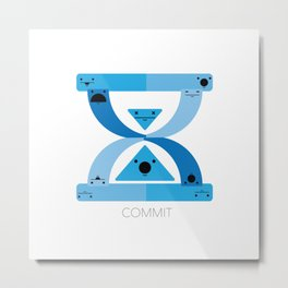 COMMIT Metal Print