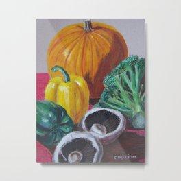 Vegetables in oil pastels Metal Print