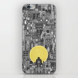 space city sun bw iPhone Skin