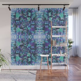 Abstract Floral Burst Wall Mural