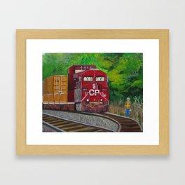 CP Train and Worke Framed Art Print
