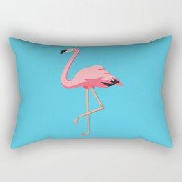 the Flamingo - vintage style illustration Rectangular Pillow