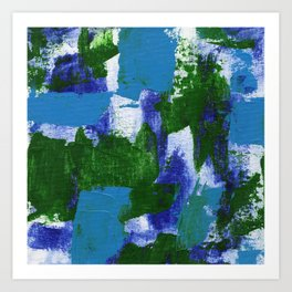 Abstract Expression #4 by Michael Moffa Art Print