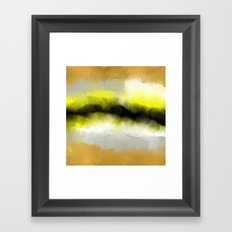 Golden Whispers - Abstract Art Acrylic Painting Framed Art Print