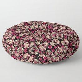 Flower Skulls - Skull pattern day of the dead mexico flowers Floor Pillow
