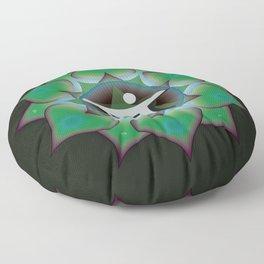 Heart Chakra on black Floor Pillow